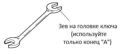 Спринклерный ключ для оросителя TY325